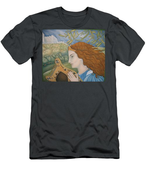 King David In His Youth Men's T-Shirt (Athletic Fit)
