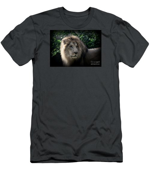 Men's T-Shirt (Slim Fit) featuring the photograph King Kamau by Lisa L Silva