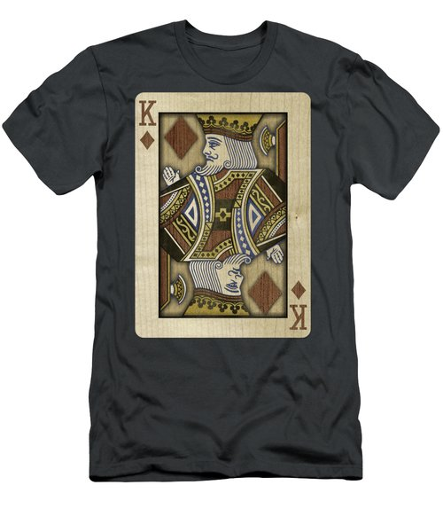 King Of Diamonds In Wood Men's T-Shirt (Athletic Fit)