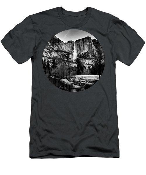 King Of Waterfalls, Black And White Men's T-Shirt (Slim Fit) by Adam Morsa