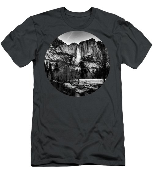 King Of Waterfalls, Black And White Men's T-Shirt (Athletic Fit)