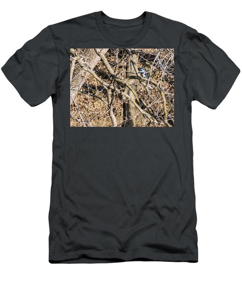 Men's T-Shirt (Slim Fit) featuring the photograph Kingfisher Hunting by Edward Peterson