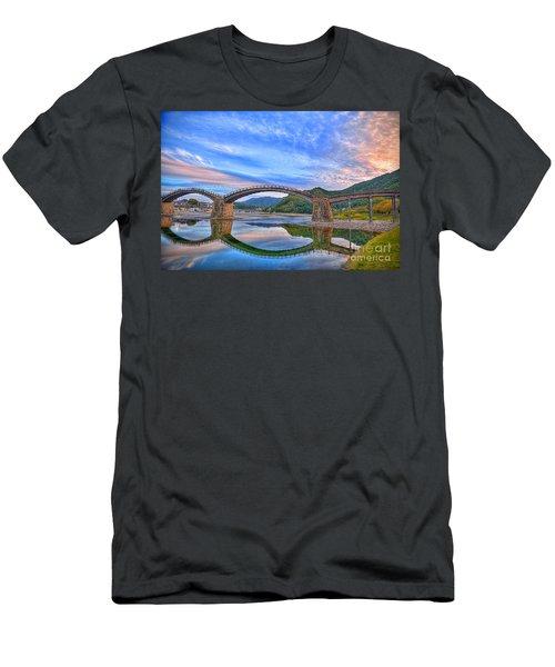 Kintai Bridge Japan Men's T-Shirt (Slim Fit) by Rod Jellison