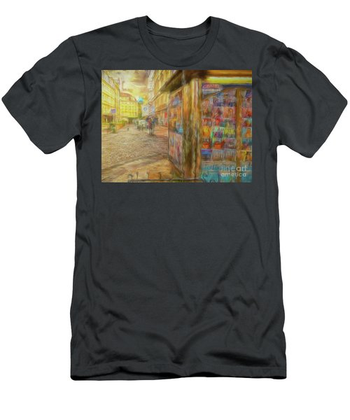 Kiosk - Prague Street Scene Men's T-Shirt (Athletic Fit)