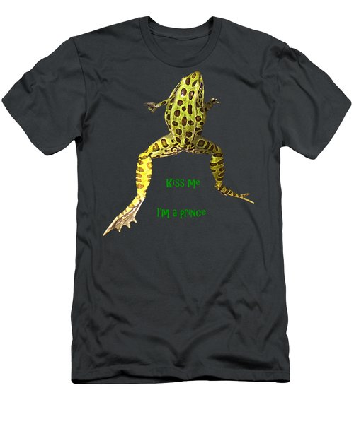 Kiss Me I'm A Prince Men's T-Shirt (Athletic Fit)