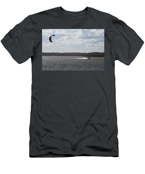 Men's T-Shirt (Athletic Fit) featuring the photograph Kiteboarding by Miroslava Jurcik