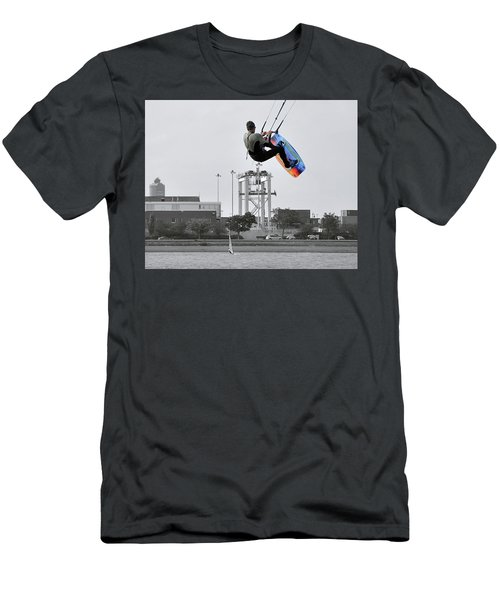 Kitesurfer Catching Air Men's T-Shirt (Athletic Fit)