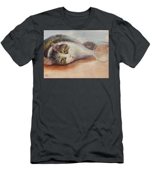 Kitty With Spilled Milk Men's T-Shirt (Athletic Fit)