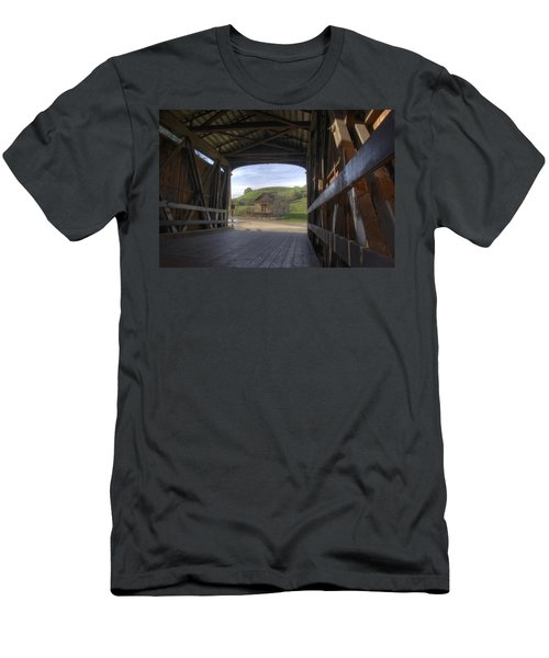 Knights Ferry Covered Bridge Men's T-Shirt (Athletic Fit)