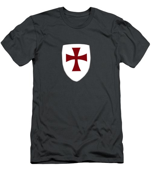 Knights Templar Crusades Shield Men's T-Shirt (Athletic Fit)