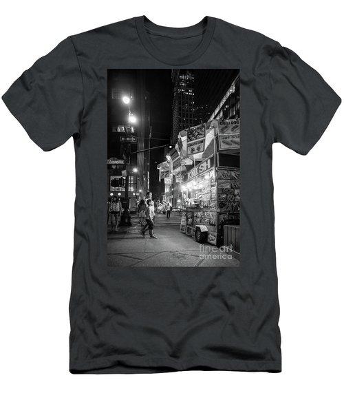 Knish, New York City  -17831-17832-bw Men's T-Shirt (Slim Fit) by John Bald