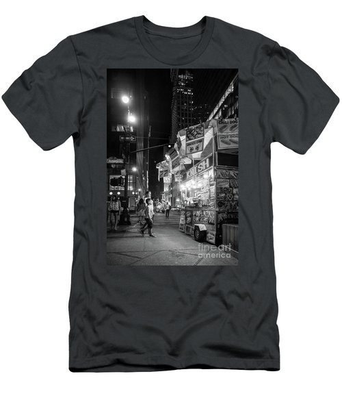 Knish, New York City  -17831-17832-bw Men's T-Shirt (Athletic Fit)