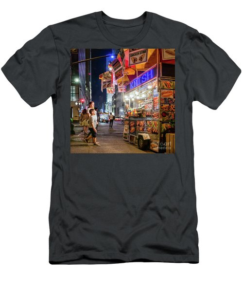 Knish, New York City  -17831-17832-sq Men's T-Shirt (Athletic Fit)