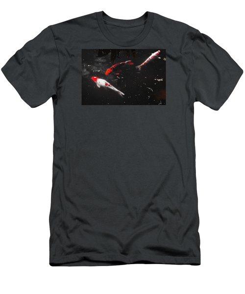 Men's T-Shirt (Slim Fit) featuring the photograph Koi Trio 1 by Deborah  Crew-Johnson