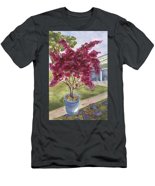 Men's T-Shirt (Athletic Fit) featuring the painting Kona Bougainvillea by Jamie Frier