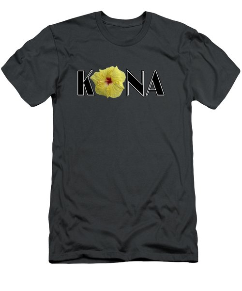 Kona Hibiscus Men's T-Shirt (Athletic Fit)