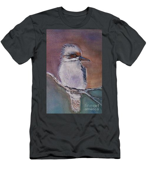 Men's T-Shirt (Slim Fit) featuring the painting Kookaburra Fancy by Leslie Allen