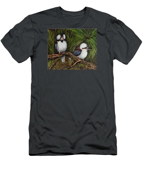 Men's T-Shirt (Slim Fit) featuring the painting Kookaburras by Renate Voigt