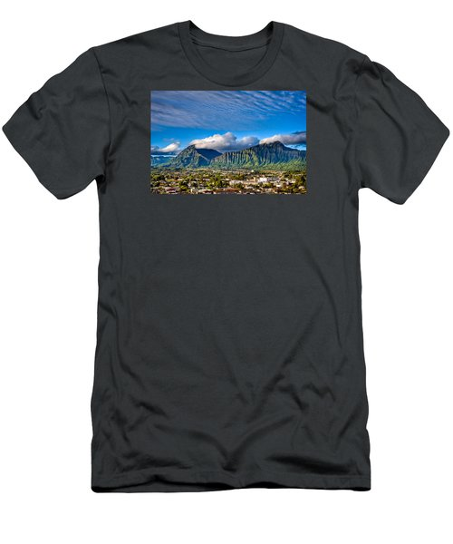 Men's T-Shirt (Athletic Fit) featuring the photograph Koolau And Pali Lookout From Kanohe by Dan McManus