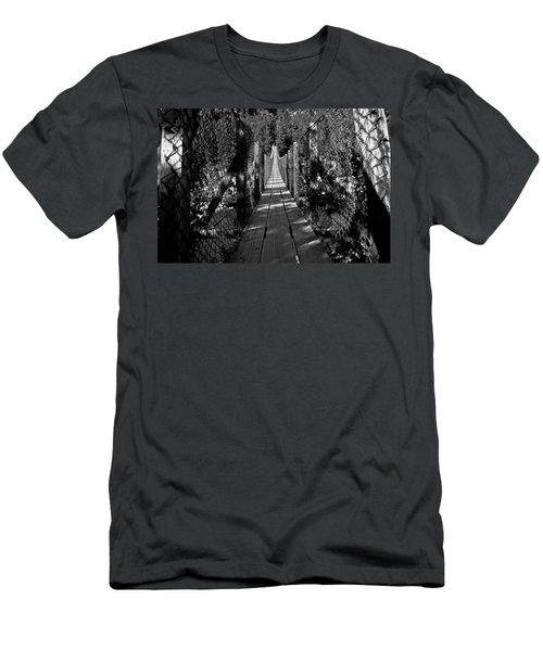 Kootenai Falls Bridge Men's T-Shirt (Athletic Fit)