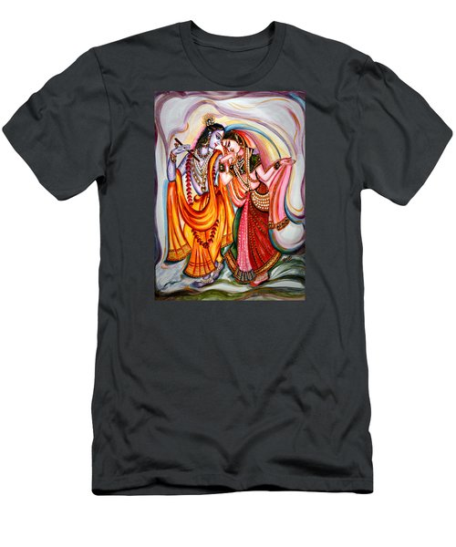 Krishna And Radha Men's T-Shirt (Slim Fit) by Harsh Malik