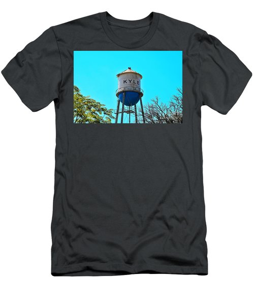 Kyle Texas Water Tower Men's T-Shirt (Slim Fit) by Ray Shrewsberry
