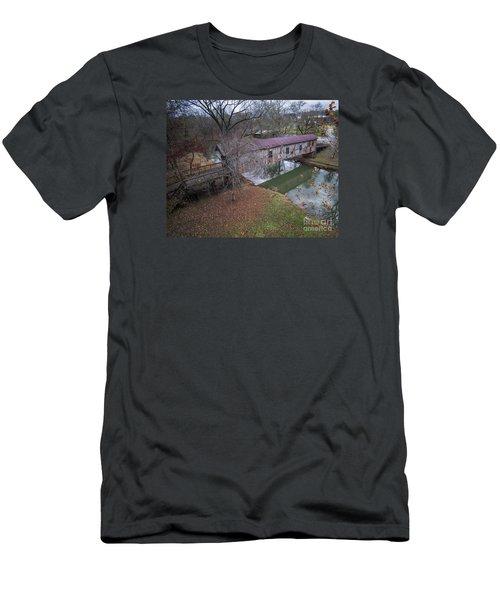 Kymulga Covered Bridge Aerial 1 Men's T-Shirt (Athletic Fit)