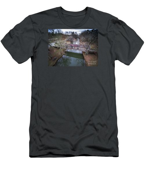 Kymulga Covered Bridge Aerial 2 Men's T-Shirt (Athletic Fit)