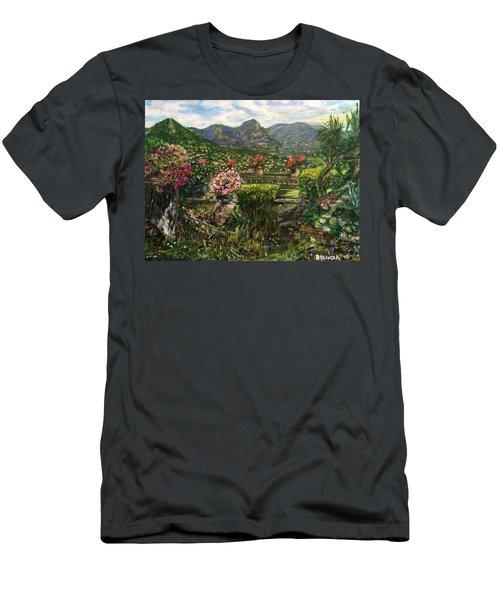 Men's T-Shirt (Slim Fit) featuring the painting La Belle Vence by Belinda Low