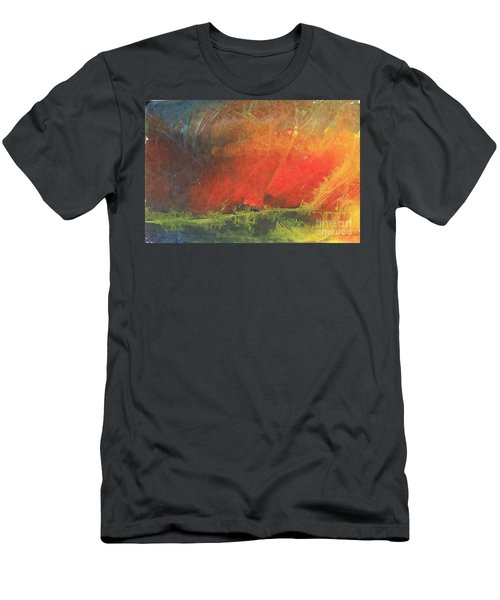 Men's T-Shirt (Slim Fit) featuring the painting La Caleta Del Diablo by Jackie Mueller-Jones