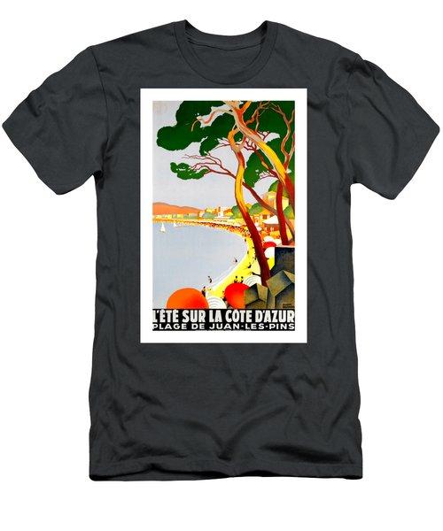 La Cote D Azur French Riviera 1930 Roger Broders Men's T-Shirt (Athletic Fit)