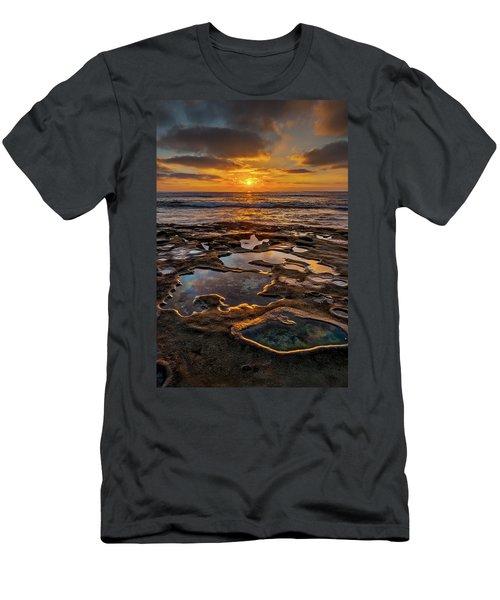 La Jolla Tidepools Men's T-Shirt (Slim Fit) by Peter Tellone