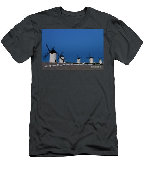 Men's T-Shirt (Slim Fit) featuring the photograph La Mancha Windmills by Heiko Koehrer-Wagner