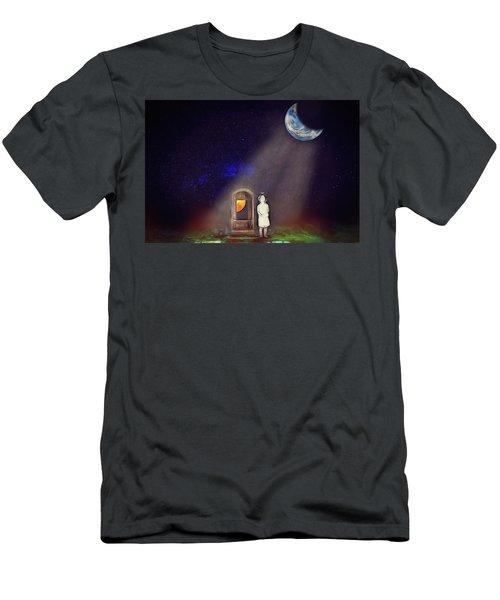 Men's T-Shirt (Athletic Fit) featuring the digital art La Petite Princesse by John Haldane