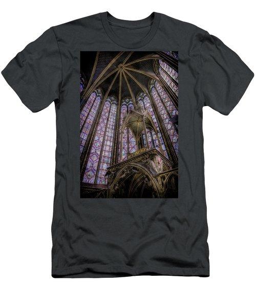 Paris, France - La-sainte-chapelle - Apse And Canopy Men's T-Shirt (Athletic Fit)
