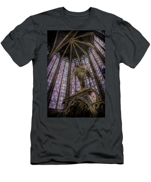 Paris, France - La-sainte-chapelle - Apse And Canopy Men's T-Shirt (Athletic Fit)