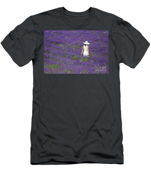 Lady In Lavender Field Men's T-Shirt (Athletic Fit)
