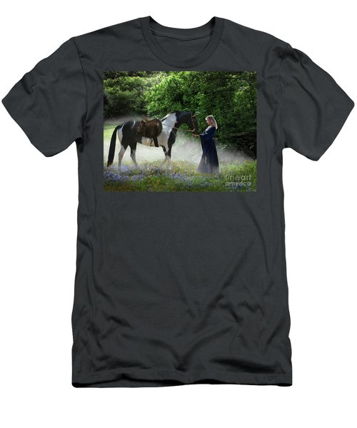 Men's T-Shirt (Athletic Fit) featuring the digital art Lady Of The Morning by Melinda Hughes-Berland