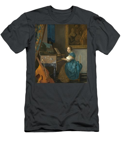 Lady Seated At A Virginal Men's T-Shirt (Athletic Fit)