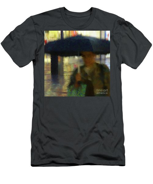 Lady With Umbrella Men's T-Shirt (Athletic Fit)