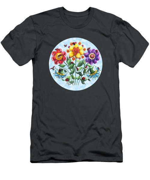 Ladybug Playground On A Summer Day Men's T-Shirt (Slim Fit) by Shelley Wallace Ylst