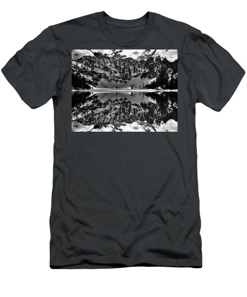 Lake 22 Winter Black And White Reflection Men's T-Shirt (Athletic Fit)