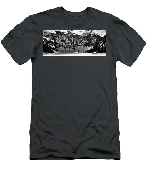 Lake 22 Winter Black And White Men's T-Shirt (Athletic Fit)