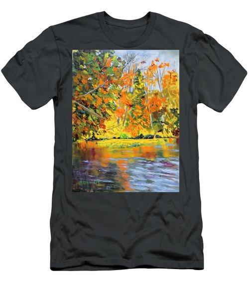 Lake Aerofloat Fall Foliage Men's T-Shirt (Athletic Fit)