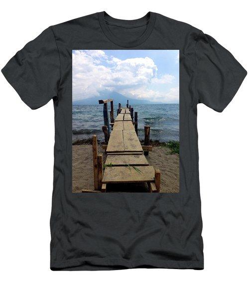 Lake Atitlan Dock Men's T-Shirt (Athletic Fit)