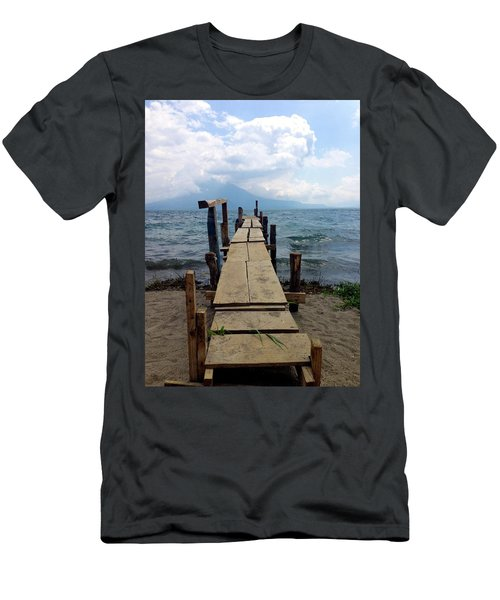 Lake Atitlan Dock Men's T-Shirt (Athletic Fit)