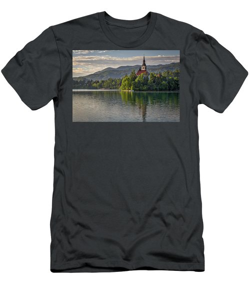 Men's T-Shirt (Athletic Fit) featuring the photograph Lake Bled Morning #2 - Slovenia by Stuart Litoff