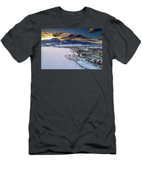 Men's T-Shirt (Slim Fit) featuring the photograph Lake Dillon Sunset by Sebastian Musial