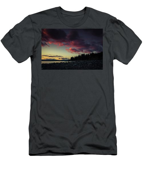Men's T-Shirt (Slim Fit) featuring the photograph Lake Dreams by Jan Davies