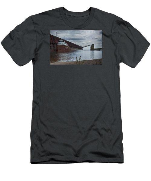 Lake Freighter Men's T-Shirt (Slim Fit) by Dan Hefle